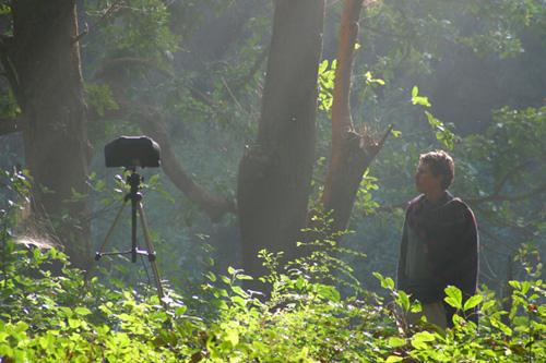 Andrew recording at Satkosia