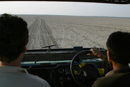 Driving across The Rann