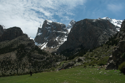 Summer pastures near Demerkazik in Turkey