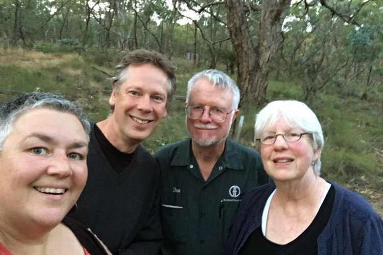Taking Dan & Sharon on their first walk into the Australian bush.